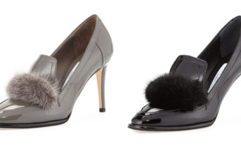 Jimmy Choo Lyza Mink-Trim Pump 7