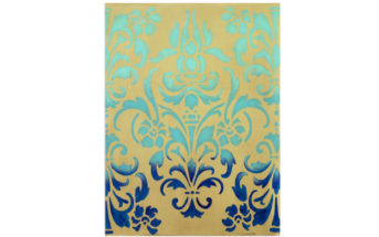 Modern Contemporary Damask Wall Art 3