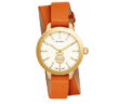 Tory Burch Collins Goldtone & Leather Double-Wrap Strap Watch 3
