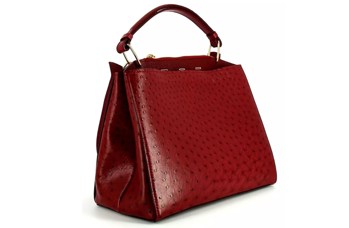 VBH Seven Ostrich & Vitello Satchel Bag 3