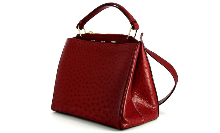 VBH Seven Ostrich & Vitello Satchel Bag 4