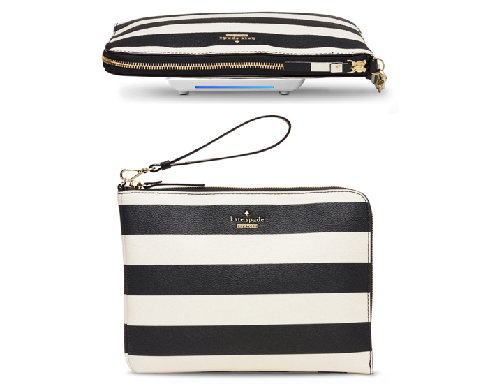 everpurse x kate spade new york quentin stripe wristlet pouch 2
