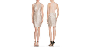 AQUA Illusion Inset Sequin Dress 2