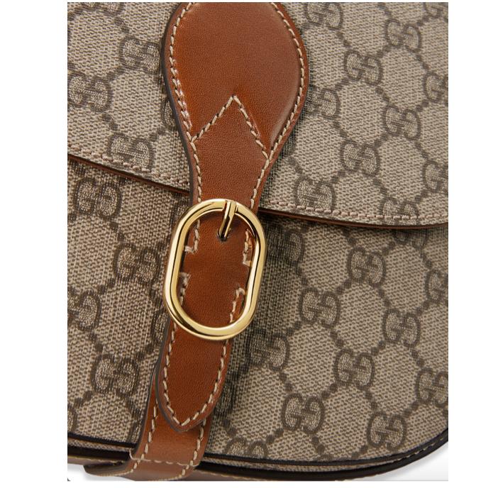 Gucci GG Canvas Saddle Bag 4