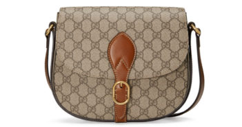 Gucci GG Canvas Saddle Bag 5