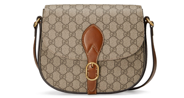 Gucci GG Canvas Saddle Bag