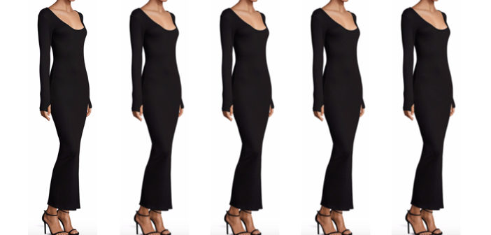 L'AGENCE Olympia Rib-Knit Maxi Dress