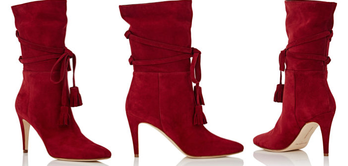 Shoe of the Day: Manolo Blahnik Cavamod Suede Ankle Boots