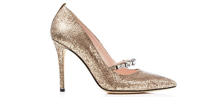 SJP by Sarah Jessica Parker Attire Metallic Snake-Embossed Pointed Toe High Heel Pumps 2
