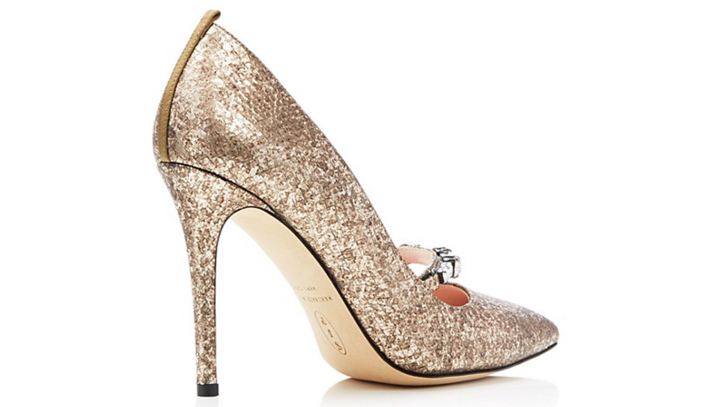 SJP by Sarah Jessica Parker Attire Metallic Snake-Embossed Pointed Toe High Heel Pumps 3