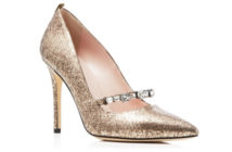 SJP by Sarah Jessica Parker Attire Metallic Snake-Embossed Pointed Toe High Heel Pumps 4