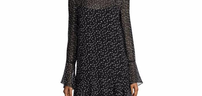 Theory Marah Silk Star-Print Dress