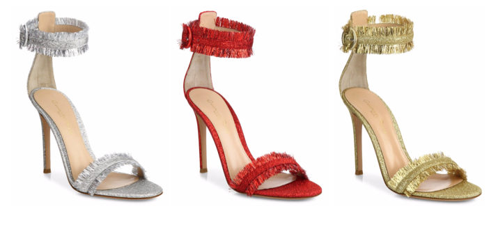 Shoe of the Day: Gianvito Rossi Caribe Tinsel Ankle-Strap Sandals