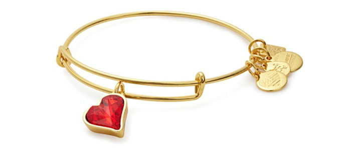 Valentine's Day Gift Idea: Alex and Ani Heart of Strength Expandable Wire Bangle