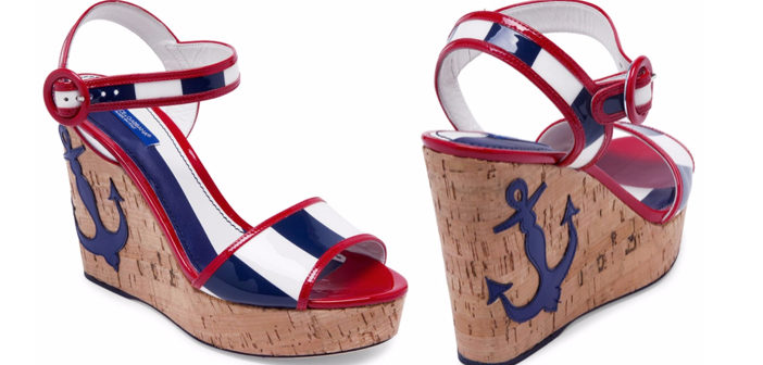 Shoe of the Day: Spring 2017 Dolce & Gabbana Anchor Cork Wedge Sandals