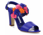 Shoe of the Day: Manolo Blahnik Khanfior 90 Flower Leather Slingback Sandals