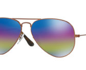 Ray-Ban Large Mirrored Iridescent Aviator Sunglasses