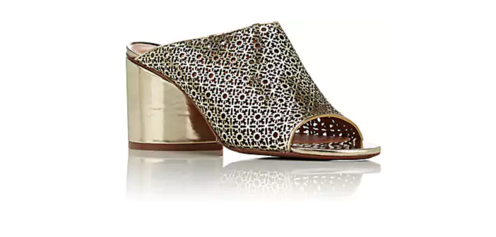 Shoe of the Day: ROBERT CLERGERIE Caren Specchio Leather Mules