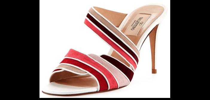 Shoe of the Day: Valentino Garavani Rainbow Suede Slide Mule