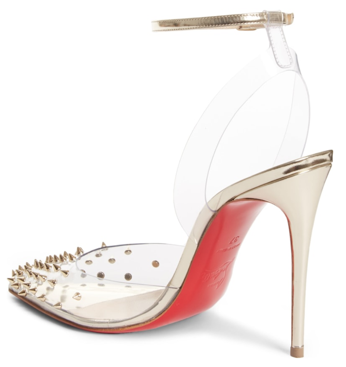 595e7cc2ce51 Shoe of the Day  Christian Louboutin Spikoo Spiked Ankle-Wrap Red ...