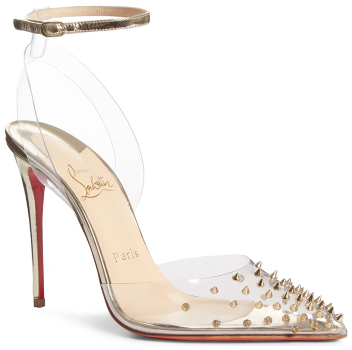 7fd5efaeddb0 Shoe of the Day  Christian Louboutin Spikoo Spiked Ankle-Wrap Red Sole Pump