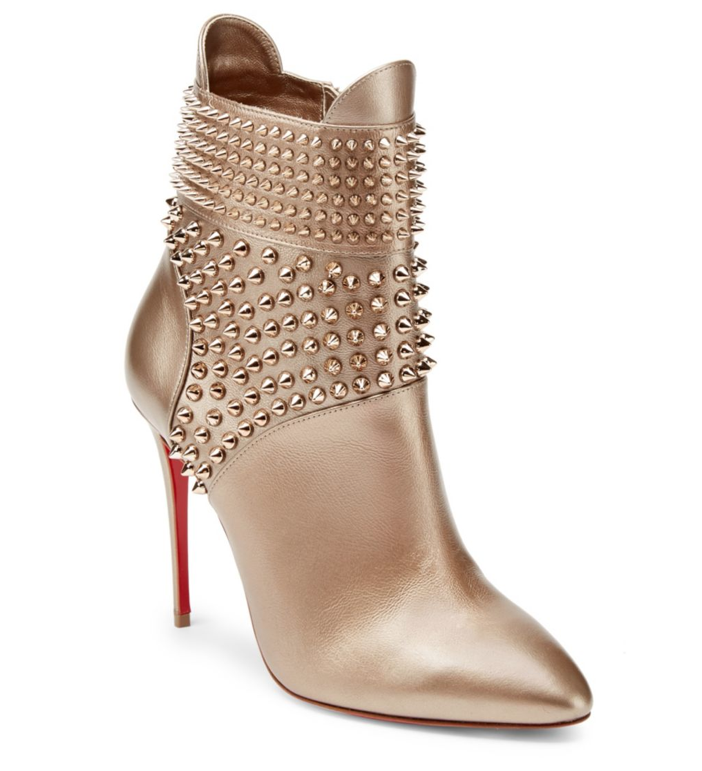 size 40 db2b6 95a50 Shoe of the Day: Christian Louboutin Studded 100 Leather Booties