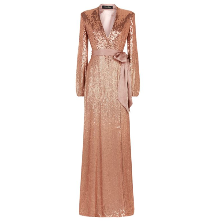 Jenny Packham Aries Sequin Embellished Gown