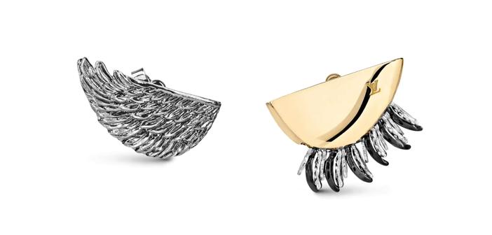 Louis Vuitton Bionic Wings and Leaves Earrings