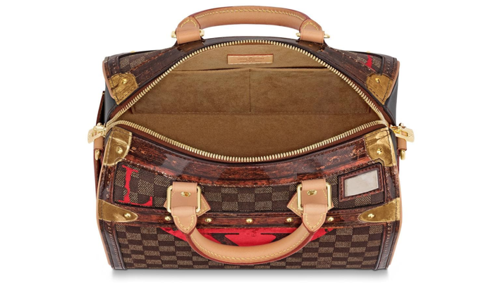 deaad9c55157 ... while elements such as a double smartphone pocket lend it practicality.  The bold update on Louis Vuitton s classic Speedy bag is a must-have for  fall.