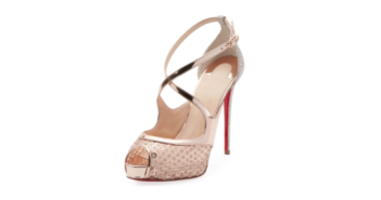 Shoe of the Day: Christian Louboutin Mirabella Strappy Sequined Red Sole Sandal