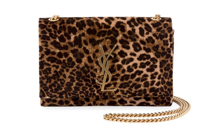 """defb231e75c2 Saint Laurent """"Kate"""" Small Leopard-Print Velvet Crossbody Bag"""