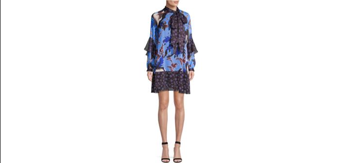 Diane von Furstenberg Effie Floral Silk Shift Dress