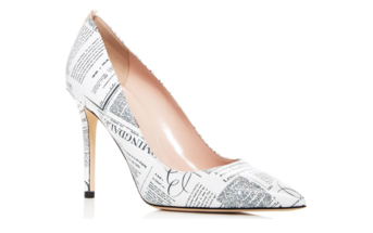 53cd343b9c4c Shoe of the Day  SJP by Sarah Jessica Parker Fawn Newsprint Leather Pumps