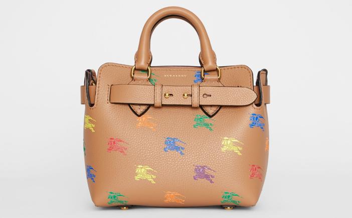 871556811994 Burberry Mini Equestrian Knight Leather Belt Bag