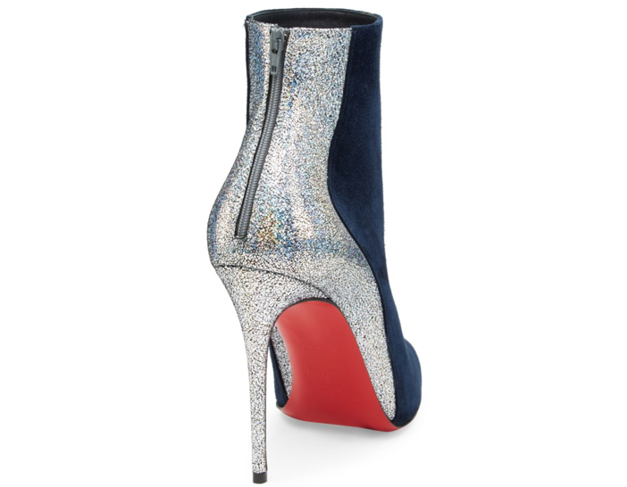 66707a39e3fc The mixed-material piecing highlights the graceful curves of a pointy-toe  bootie lifted by the soaring stiletto heel. The Delicotte toes the line  between ...