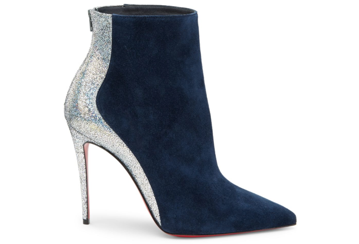 4c3d4a149b29 Shoe of the Day  Christian Louboutin Delicotte 100 Leather   Suede Booties