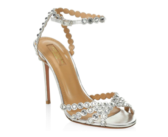 Shoe of the Day: Aquazzura Tequila Crystal Studded Leather Sandals
