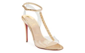6fe576d9fa6 Shoe of the Day  Christian Louboutin Jamais Assez Red Sole Sandal