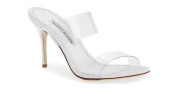Shoe of the Day: Manolo Blahnik Scolto Transparent Strap Sandal